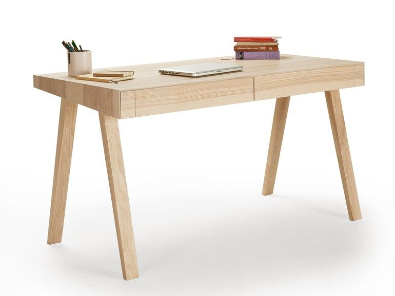 Rectangular wooden writing desk 4.9 by EMKO UAB