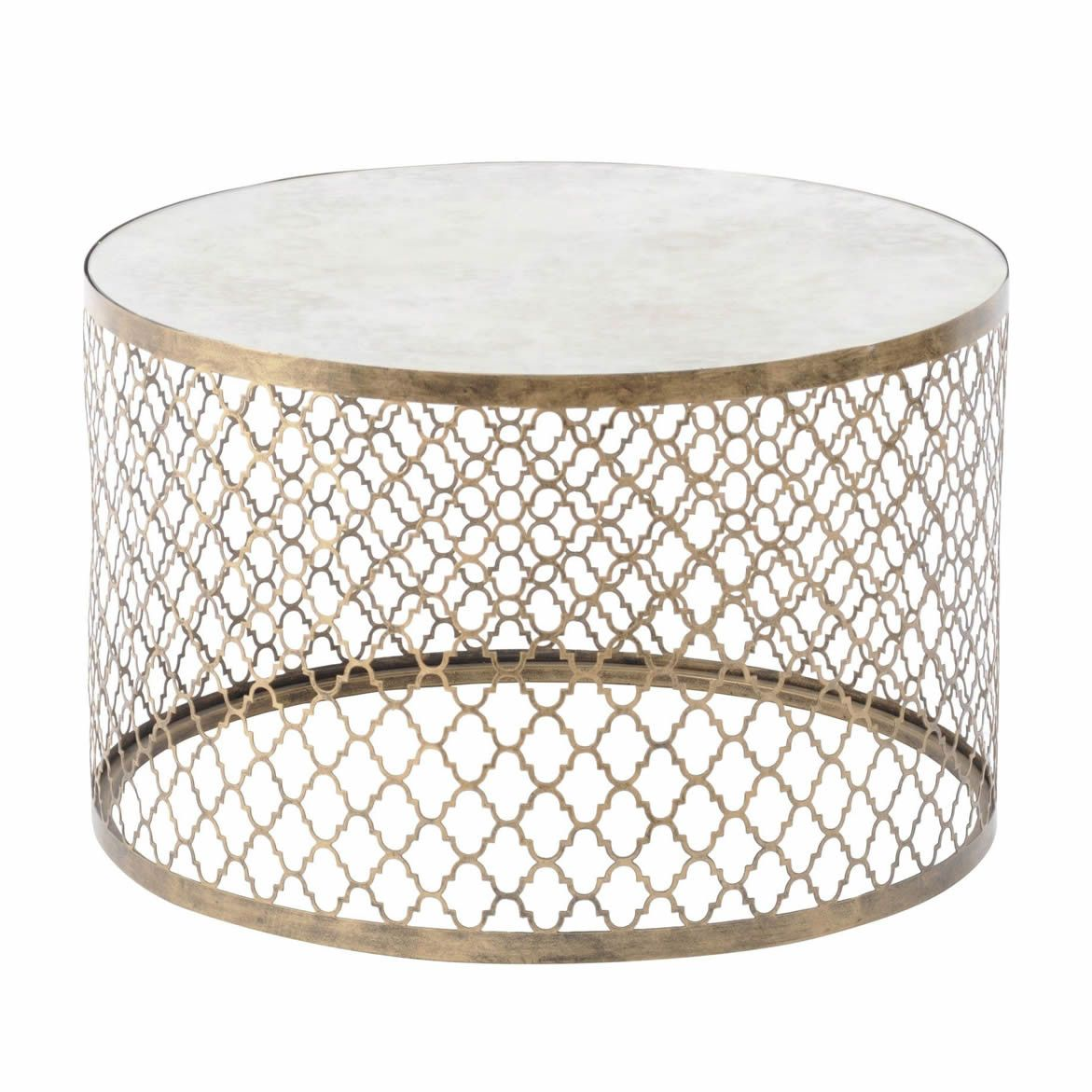 Marrakech round mirrored coffee table marrakech mirrored coffee