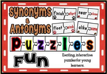 Antonyms And Synonyms Puzzles Fun Second Grade Writing School Activities Fun Learning