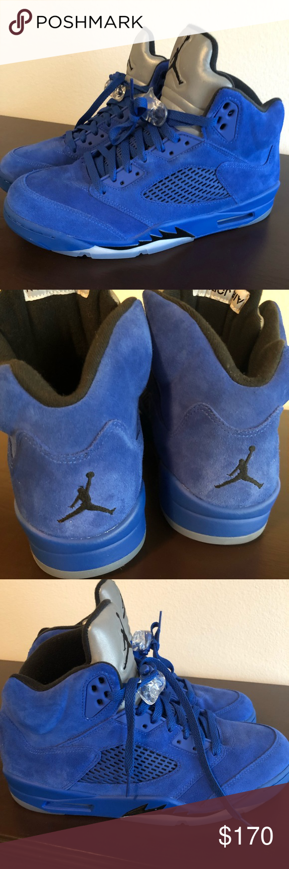 adcdbfad2e6a31 Nike Air Jordan Retro 5 Blue Suede Worn once