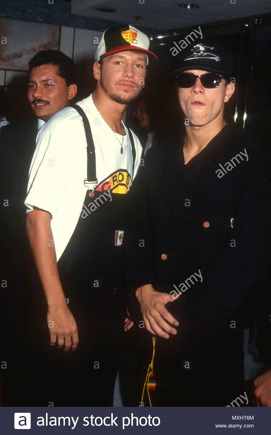 Download This Stock Image Los Angeles Ca August 15 L R Singer Donnie Wahlberg Of New Kids On The Blcok And Brothe Donnie Wahlberg Mark Wahlberg New Kids