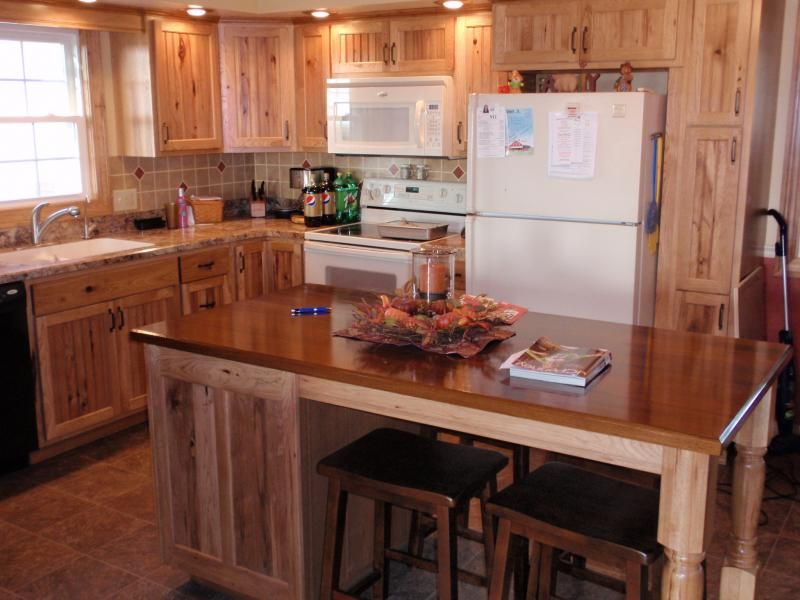 Rustic Kitchen Cabinets Are Beautiful Additions For Any Kitchen, Such As  Rustic Hickory Kitchen Cabinets