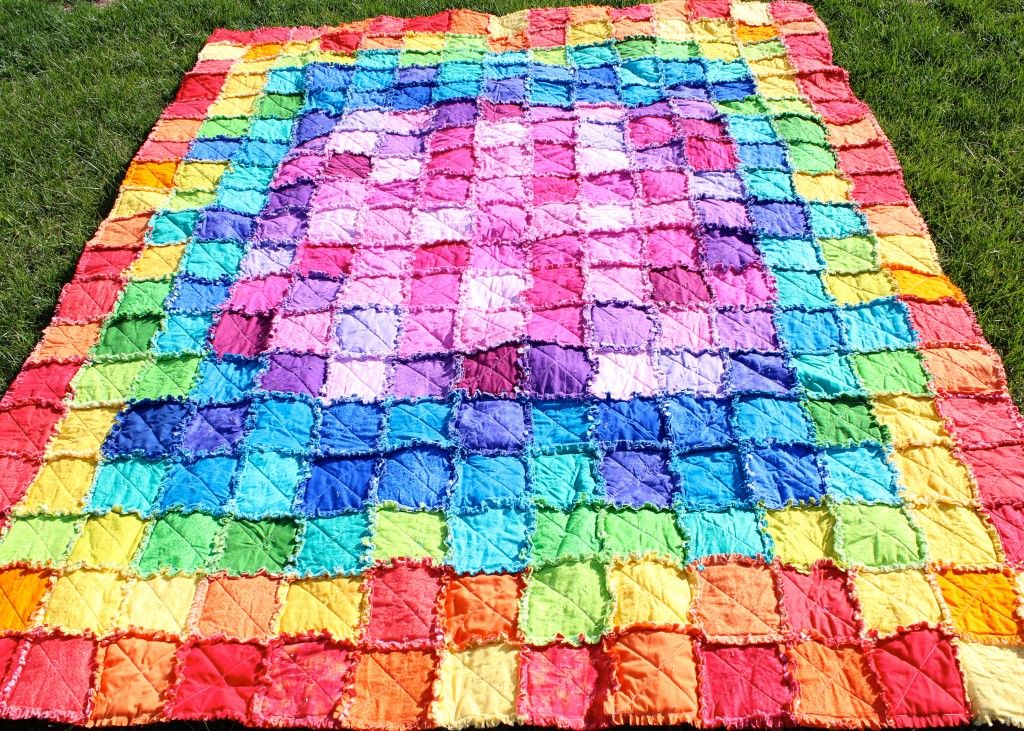 A Rag Quilt Pattern For Producing A Twin Size Rag Quilt Suitable