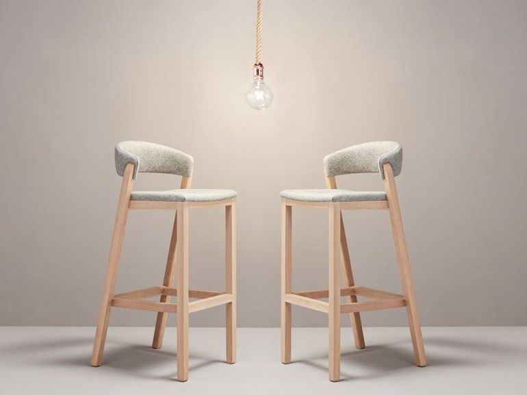 Fabric barstool with footrest oslo by missana design pepe albargues