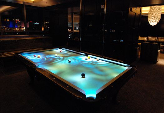 Itu0027s A Digital Pool Table. It Can Be Set To Ripple Like Water, Have