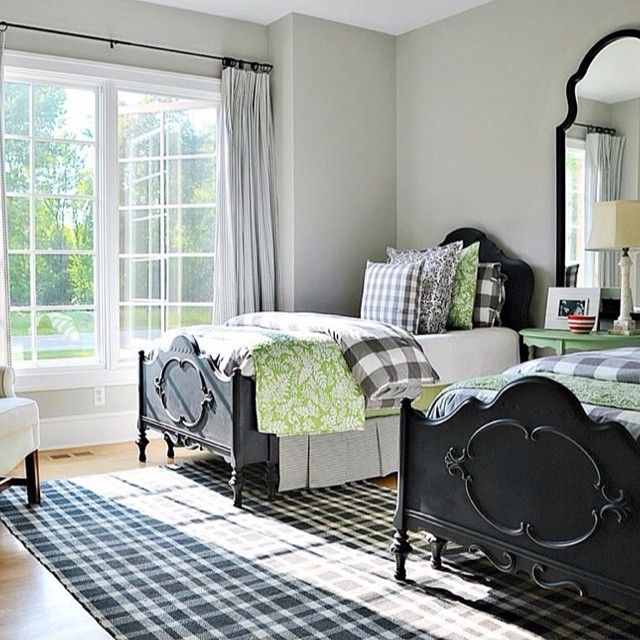 I KNOW I've been all over the board about our Master Bedroom but I think this is it!!!!   Our bed is black and our floors are the light wood so here we go!!!  Plus I love the green!