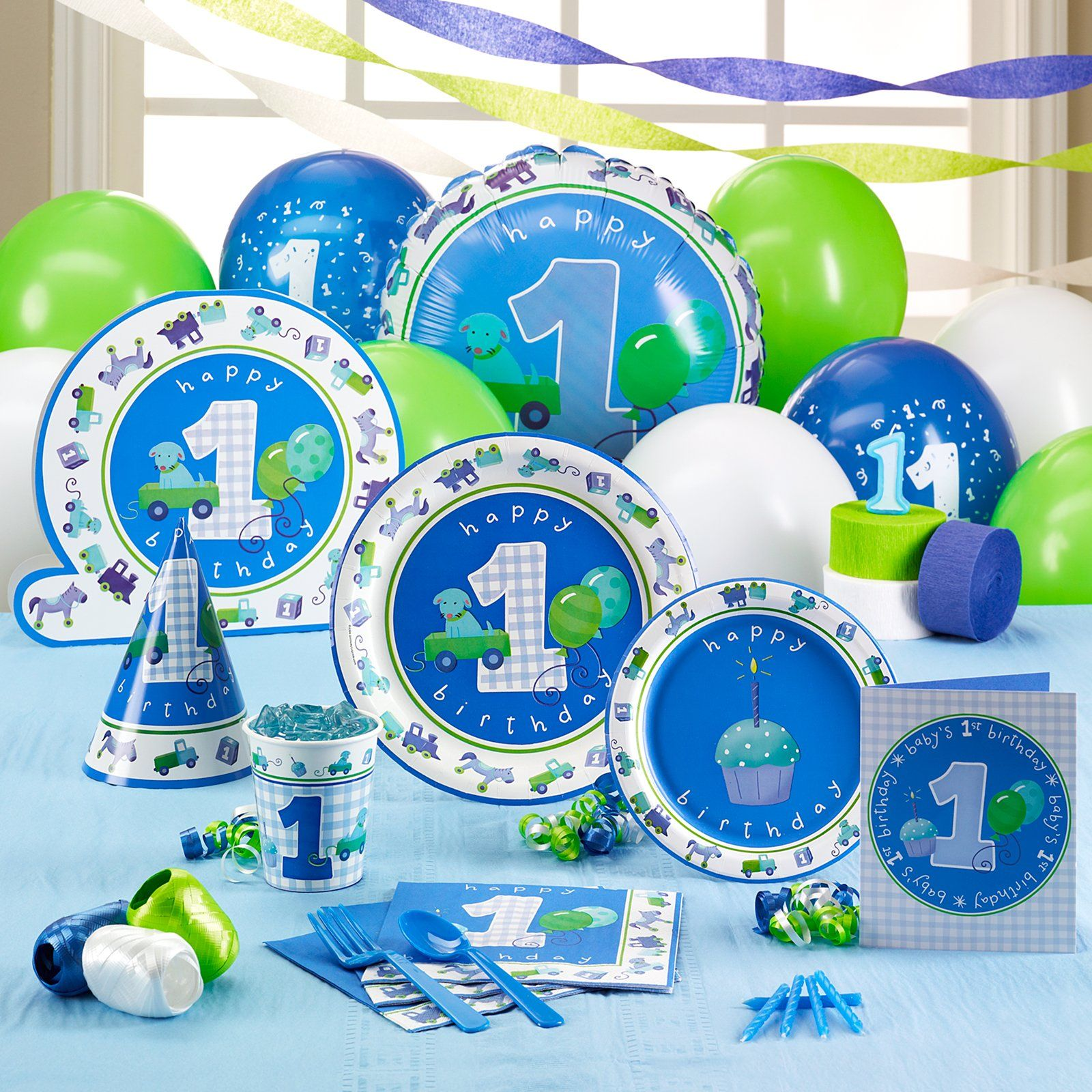 baby boy 1st birthday | 1st birthday party supplies, 1st ...