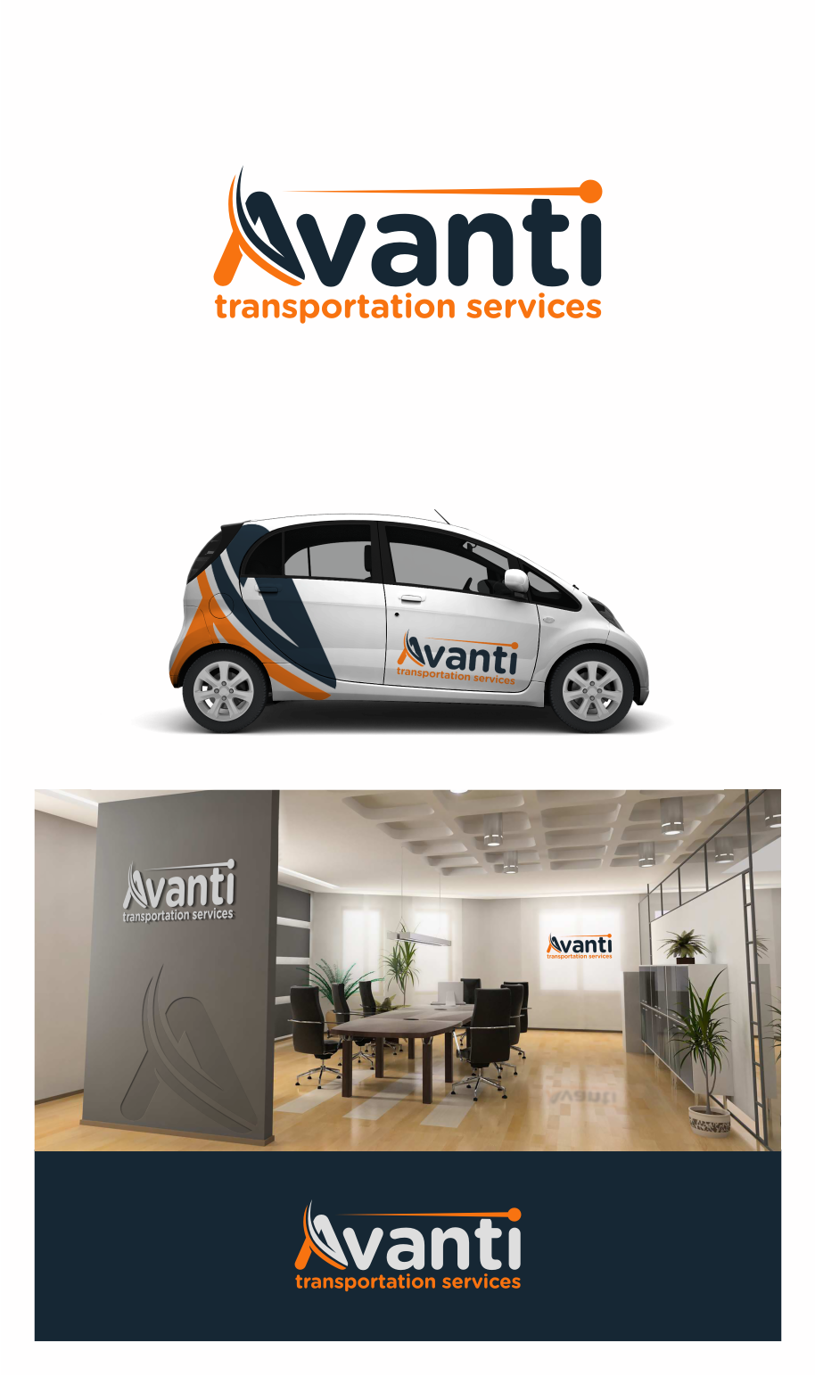 Logo and car design for medical transportation business.