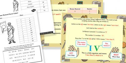 Roman Numerals Task Setter Powerpoint and Worksheets - roman ...