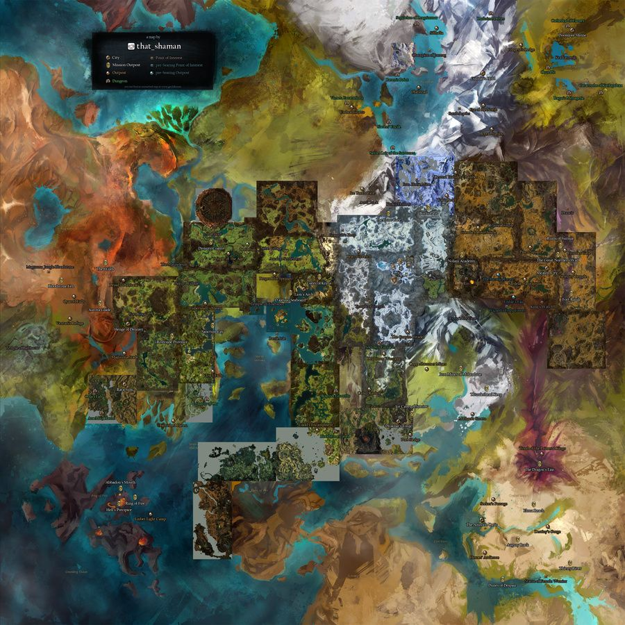 Found via #reddit, here's the Guild Wars 1 locations