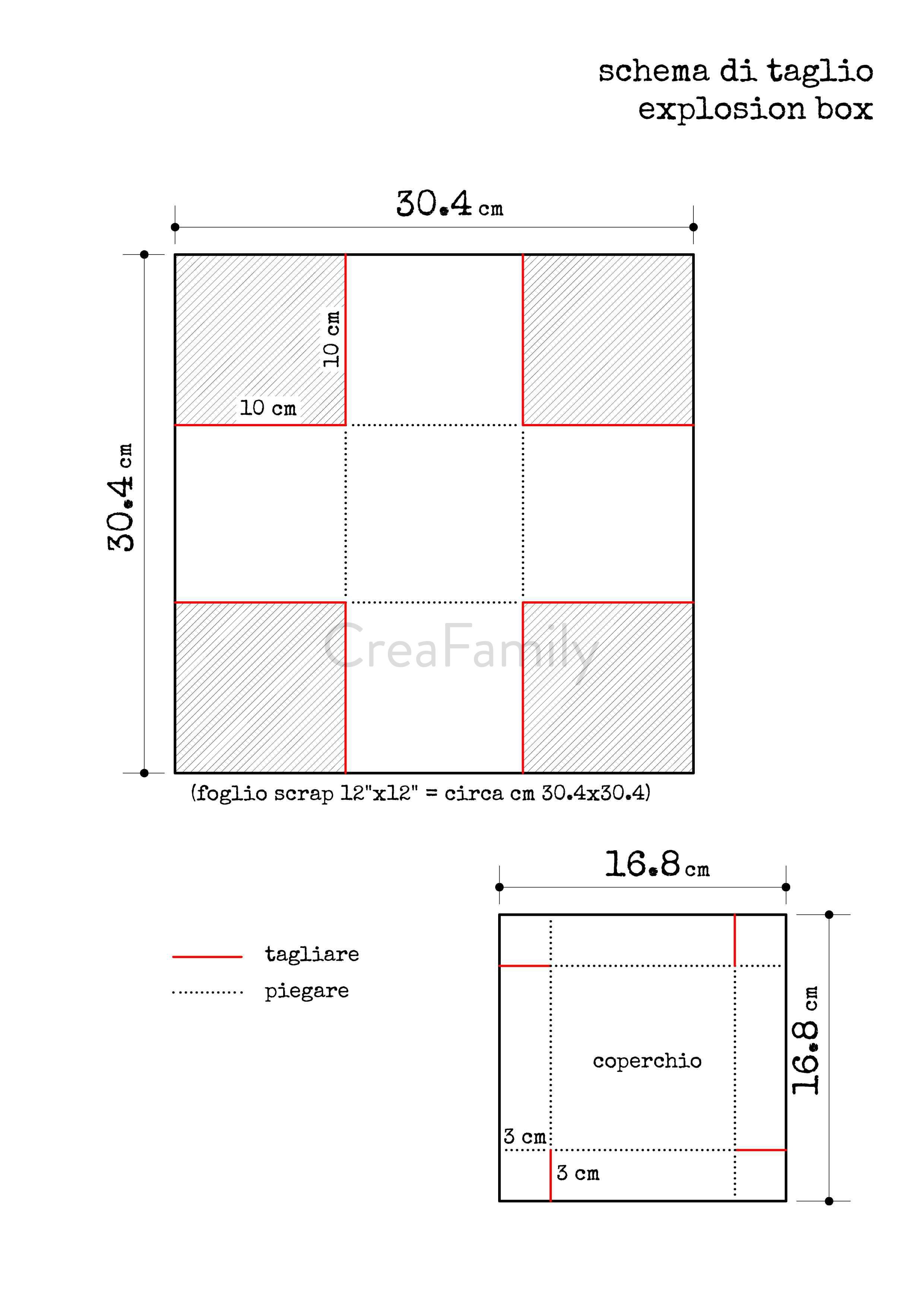 Tutorial christmas explosion box template diy for Box per cavalli fai da te