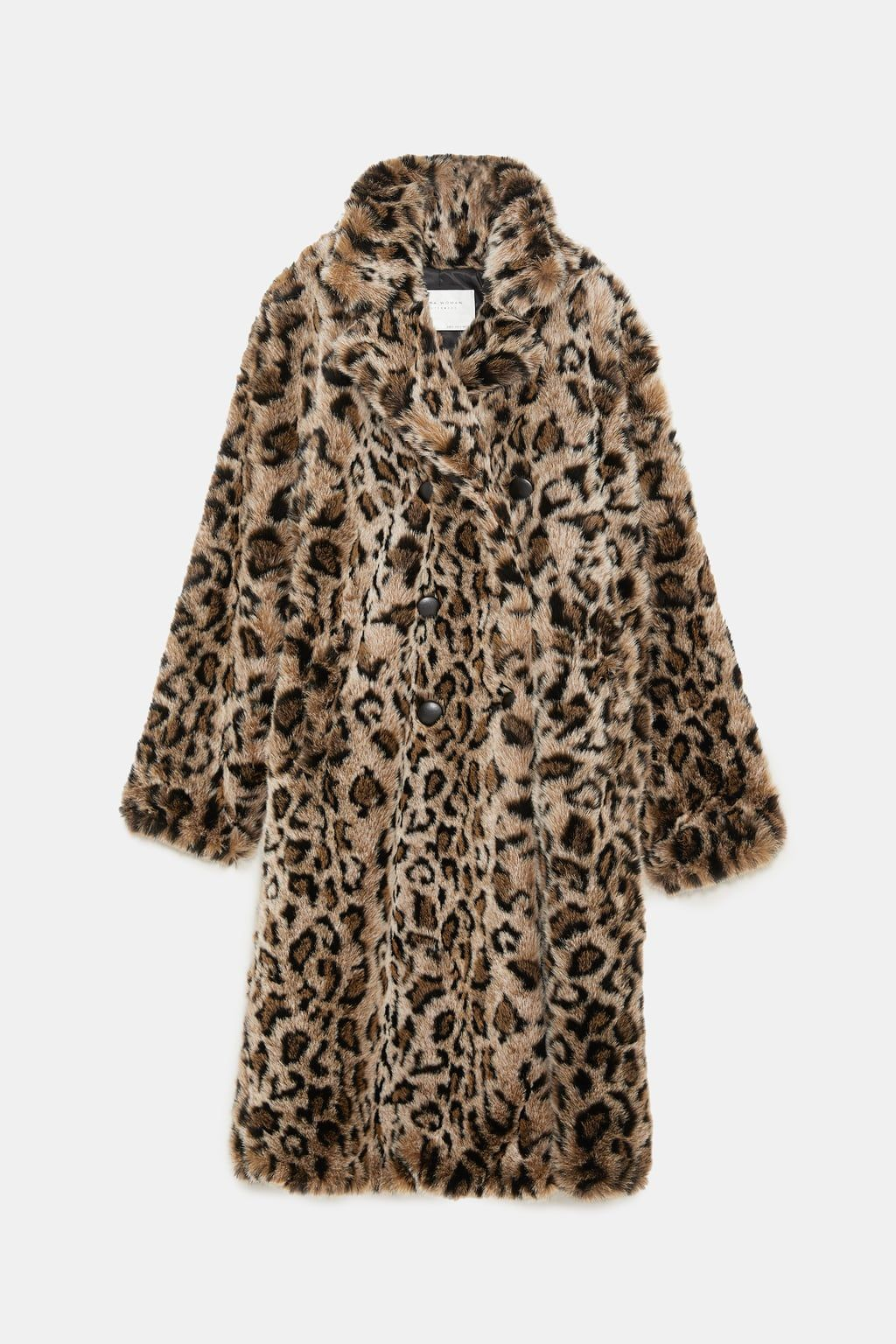 Image 8 Of Animal Print Textured Coat From Zara Leopard Print