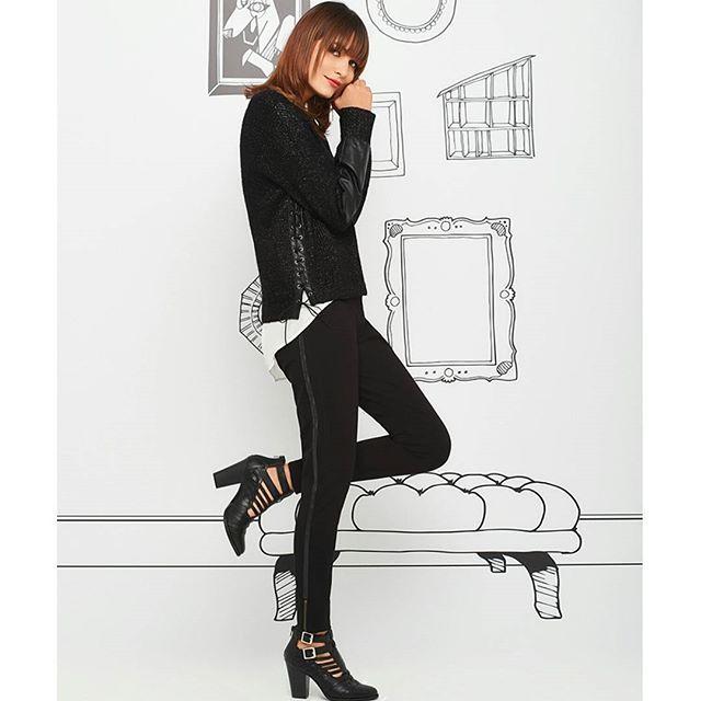 Black & Black #Fashion #OOTD #NAFNAF #AlwaysSurprising
