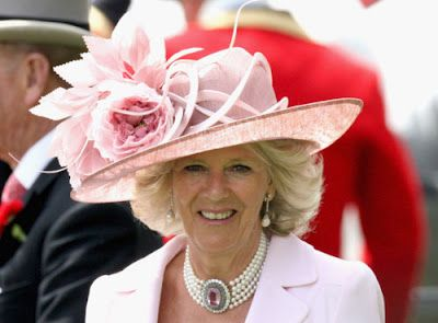 c212b8dcb HRH the Duchess of Cornwall wearing her pearl choker with pink topaz ...