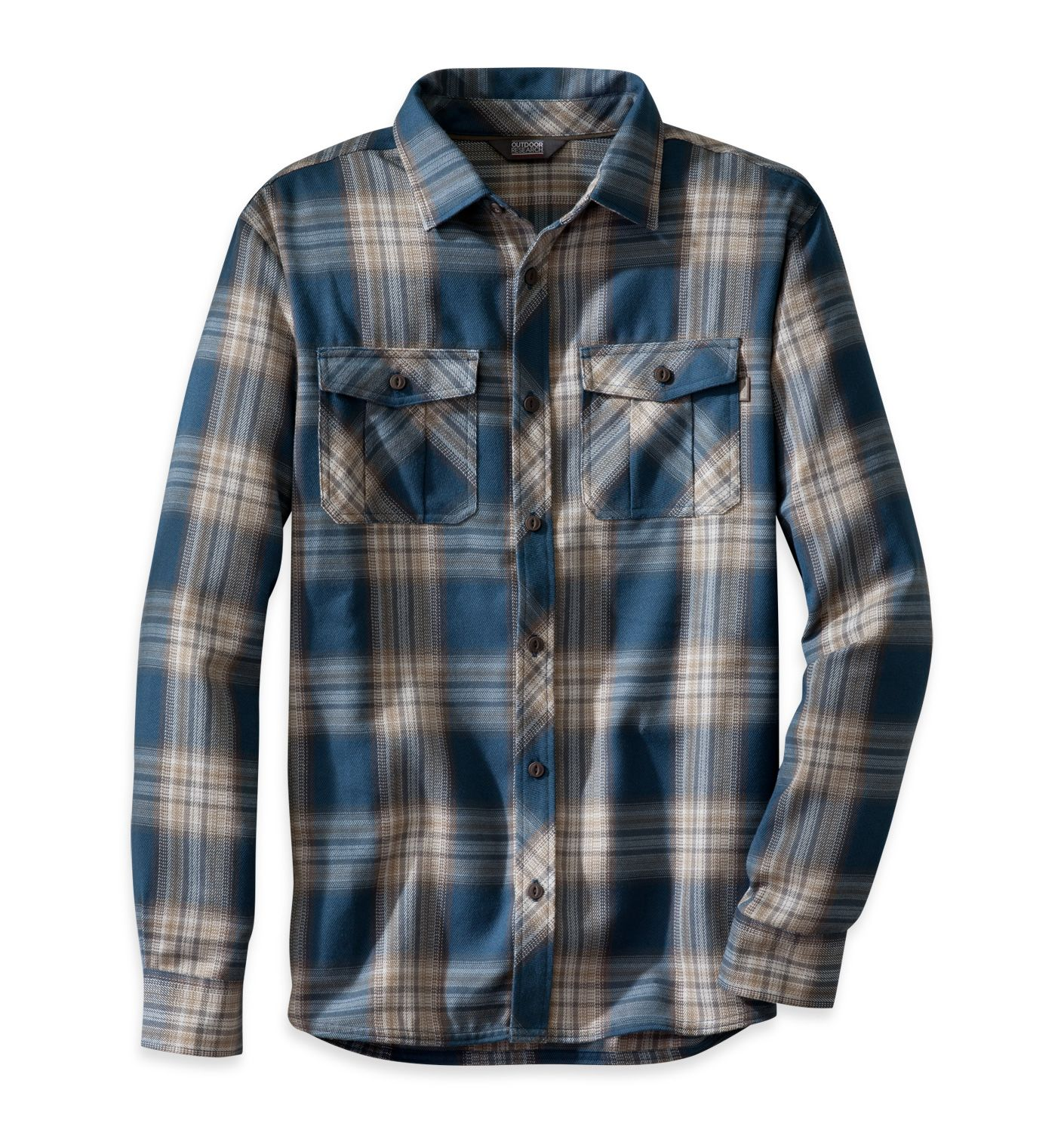 Men's Pitch L/S Shirt | Outdoor Research: The hollowcore polyester and wool construction of the Pitch Long Sleeve Shirt gives it the same long-lasting warmth and comfort as a night around the fire with close friends.