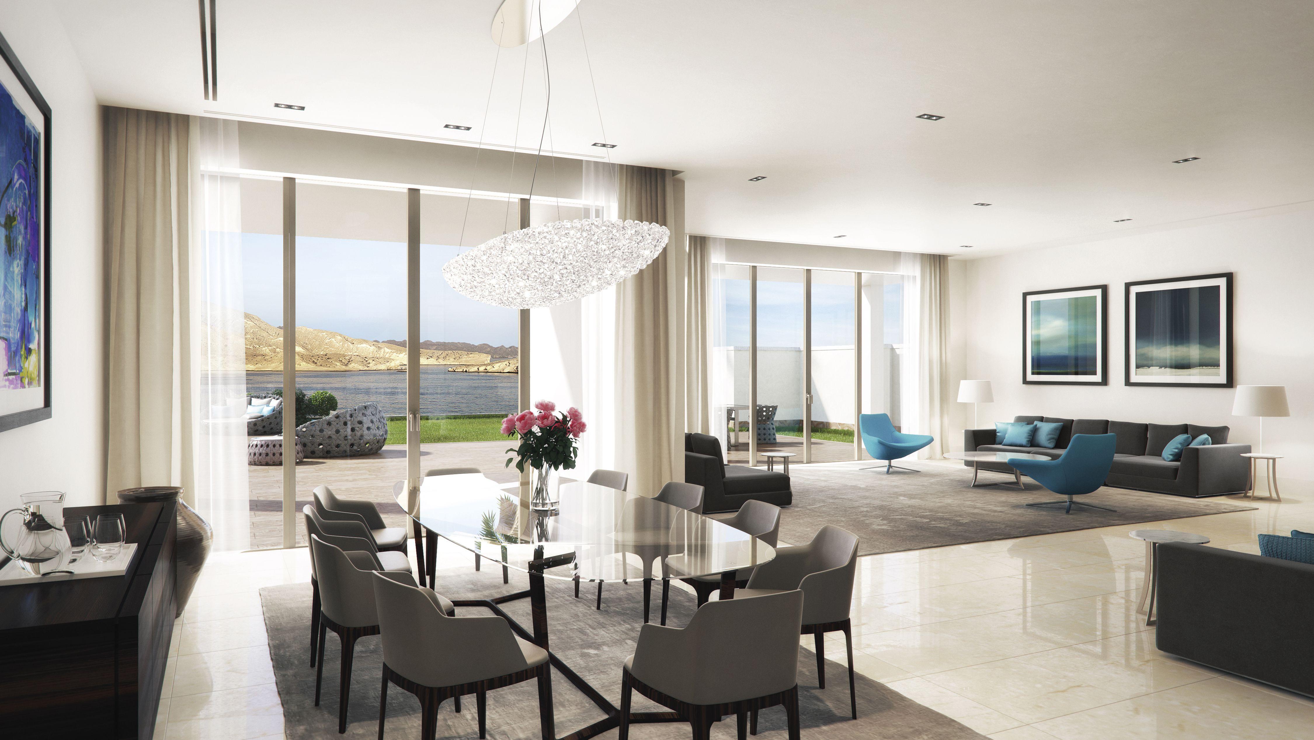 Barr Al Jissah luxury cliff top villa.
