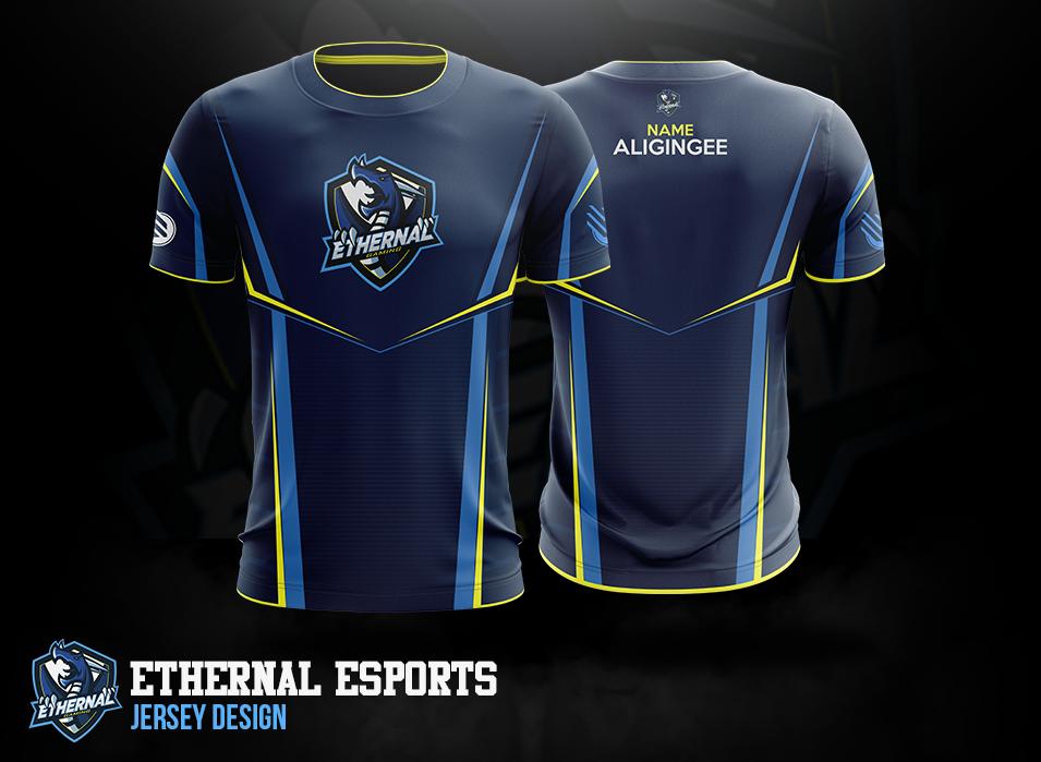 Download Esports Jersey Designs On Behance Jersey Design Sports Logo Design Running Shirts