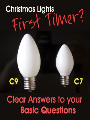 Christmas lights beginner? What's the difference between C9 and C7 Christmas  bulbs? - What Is The Difference Between C7 And C9 Christmas Bulbs