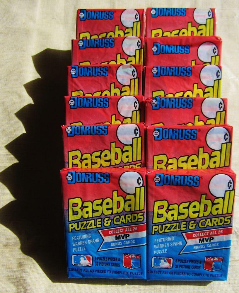 12 1989 donruss baseball card cello jumbo packs lot