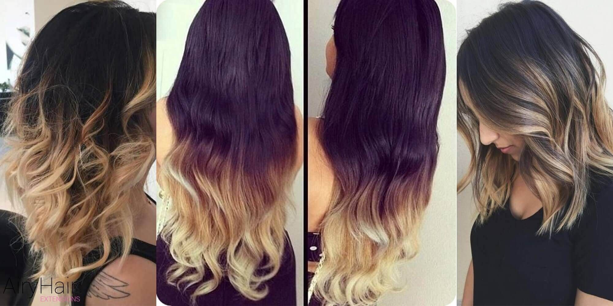 Stunning Black Ombre Hairstyles Black Hair Ombre Hair