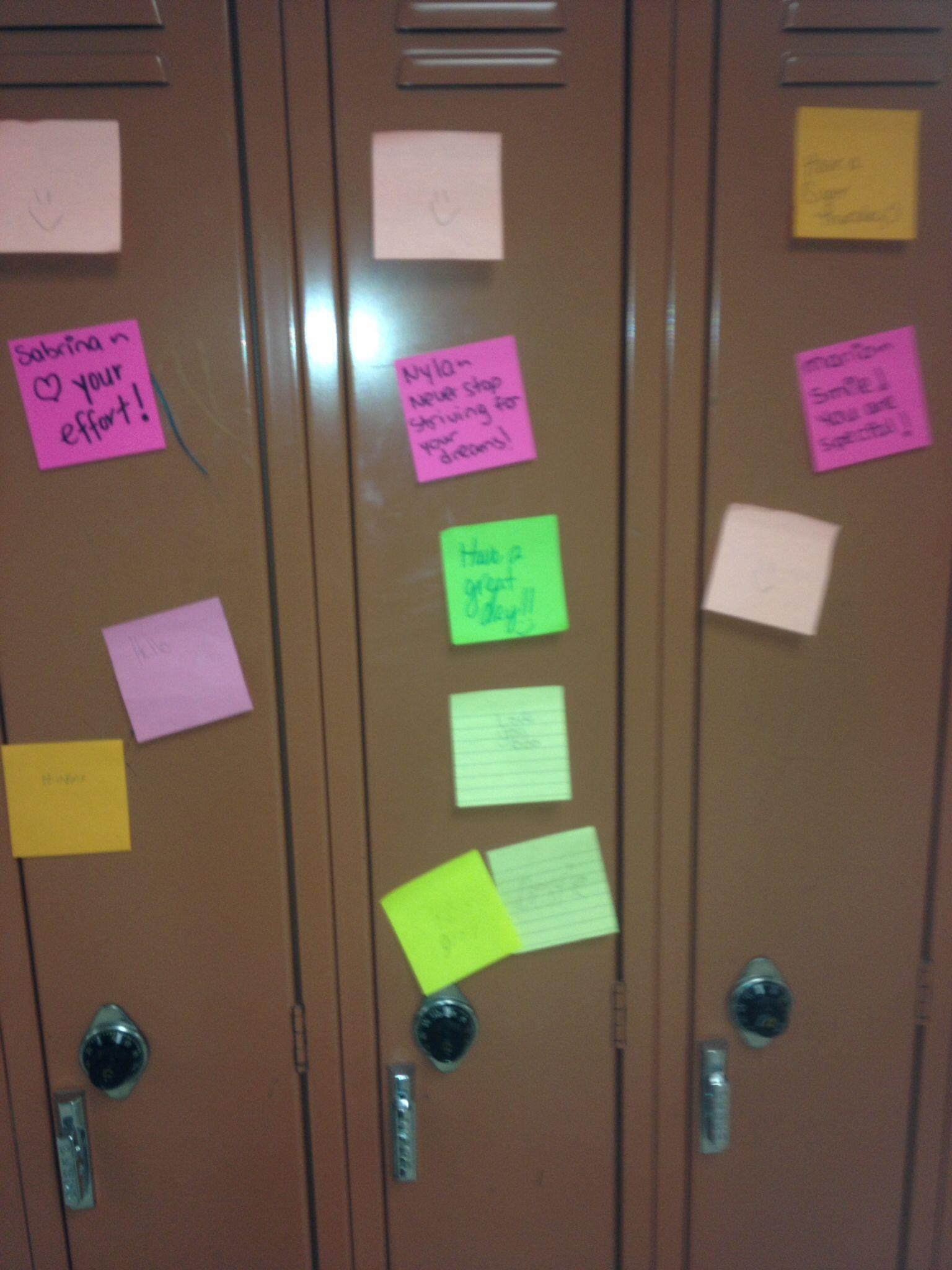 Positive Note Day At Salem Middle School Celebrating
