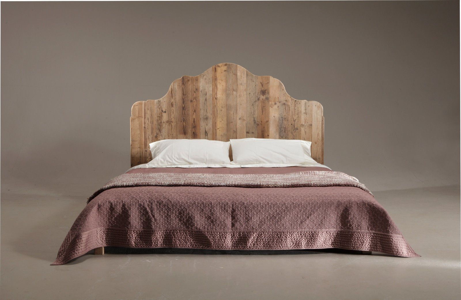 Letto matrimoniale legno abete stile Vintage misure 206x180 testata ...