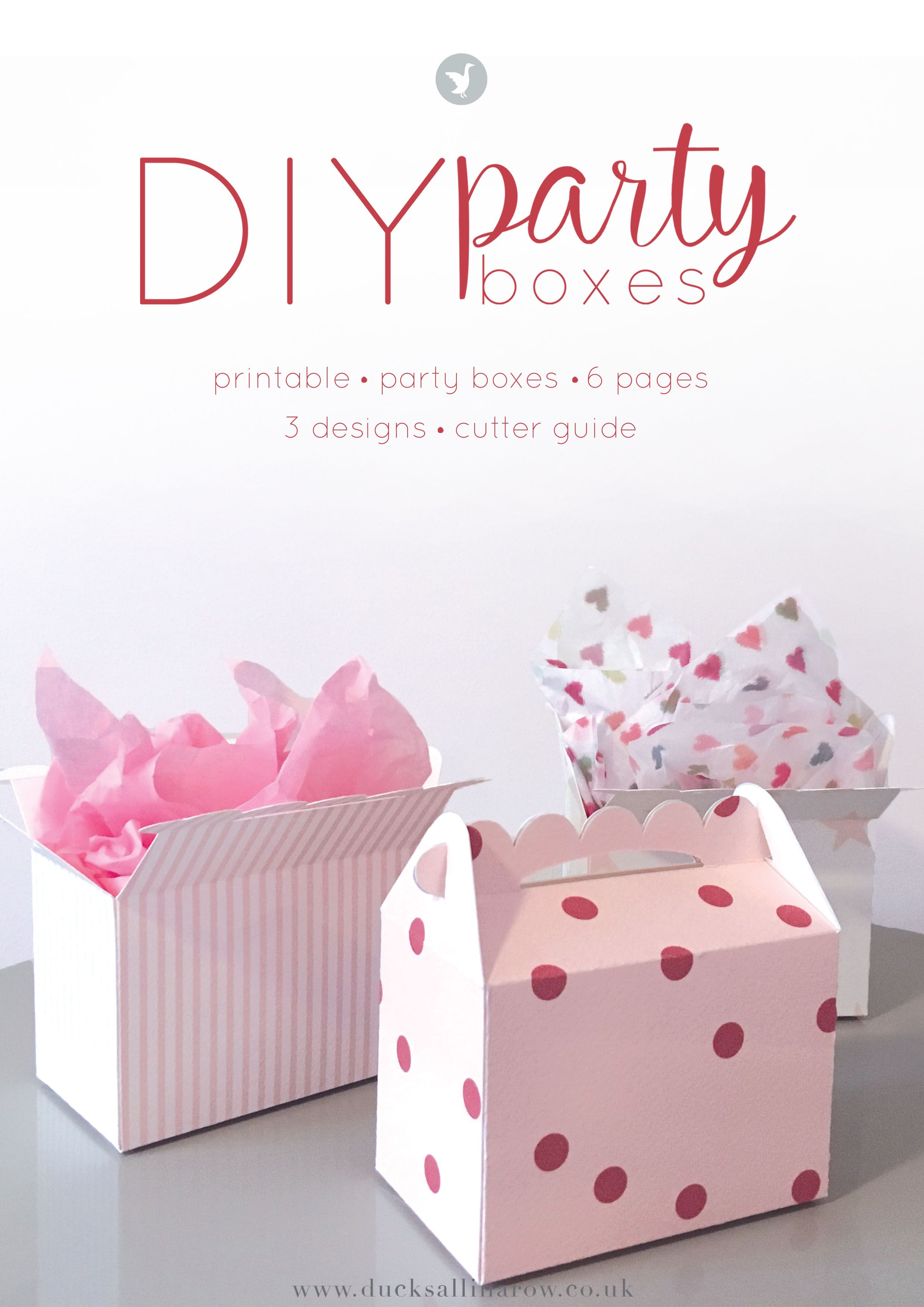 Adorable DIY Party Boxes - free printables | Pinterest | DIY party ...