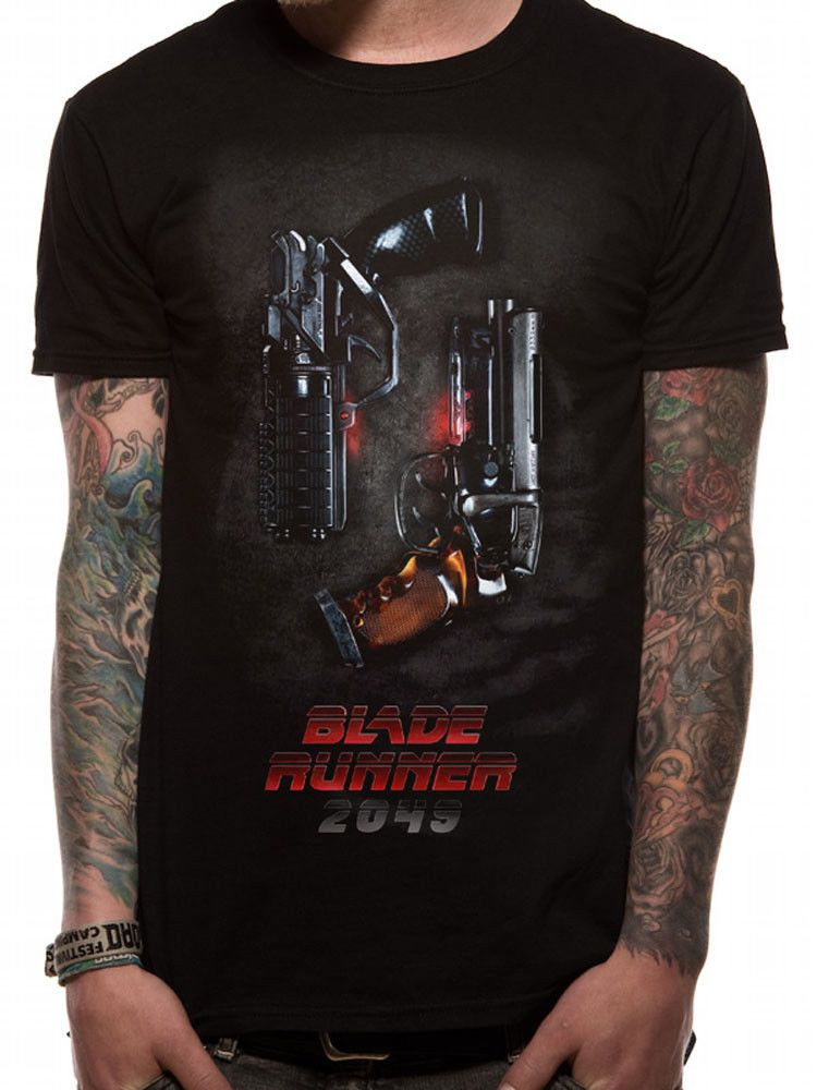 Blade Runner 2049 Pistols Blaster Nexus-9 Official Black Mens Tshirt