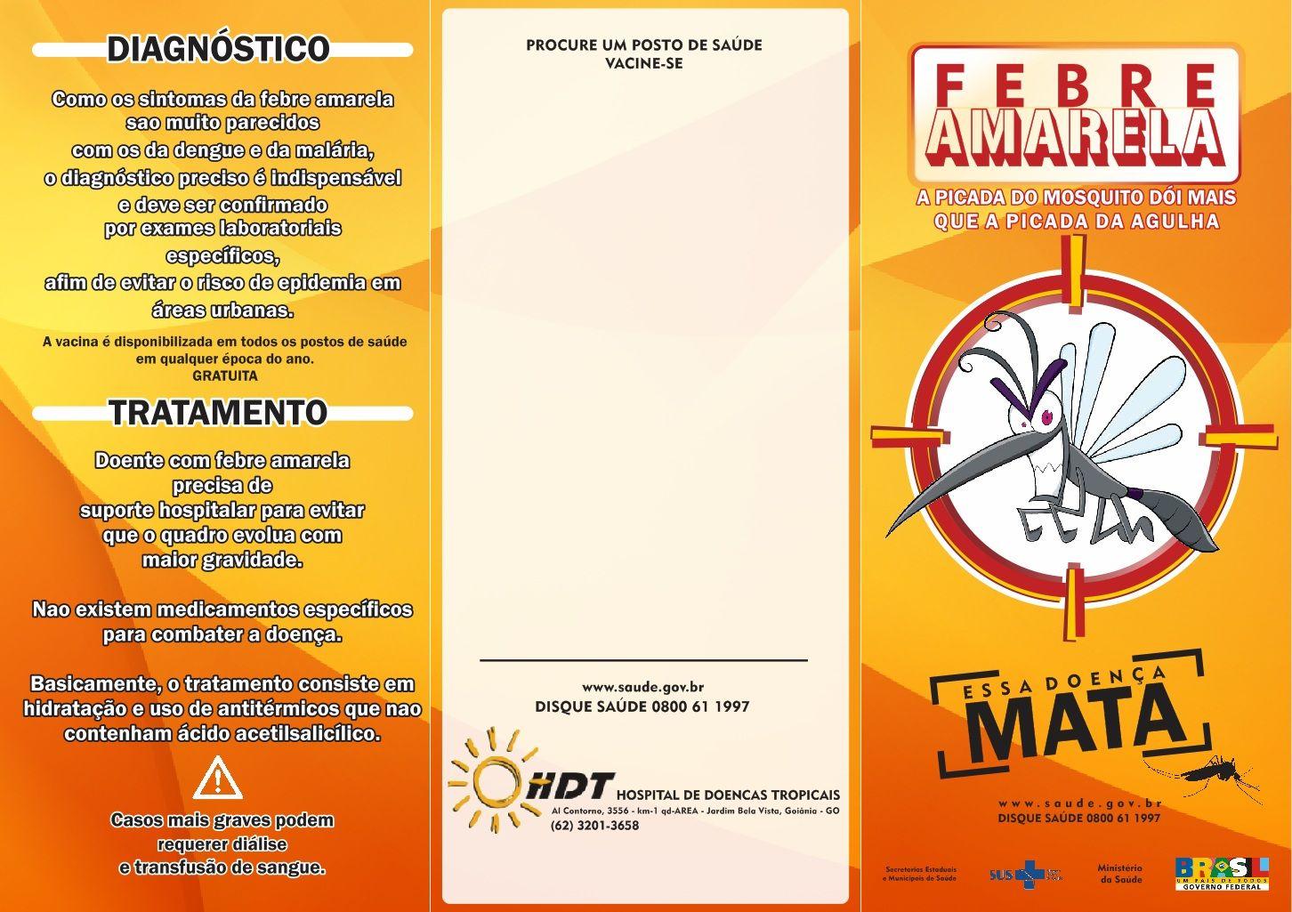Flyer - Febre Amarela