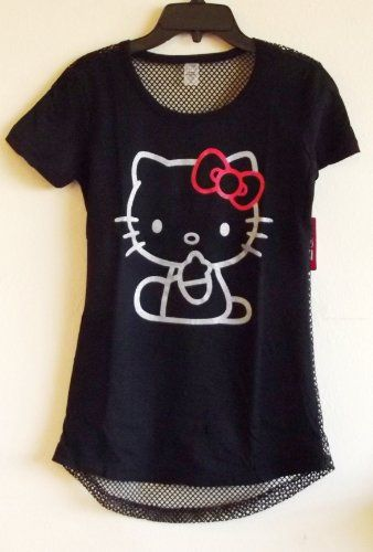 b872c4118 Hello Kitty Women's Back Mesh Cover-up Shirt in Black (Womens-LARGE) » Pink Hello  Kitty » Shop Hello Kitty — All your Hello Kitty Products Here!