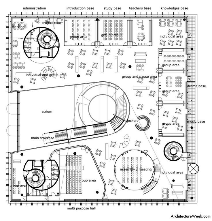 Elementary School Building Design Plans Architecture