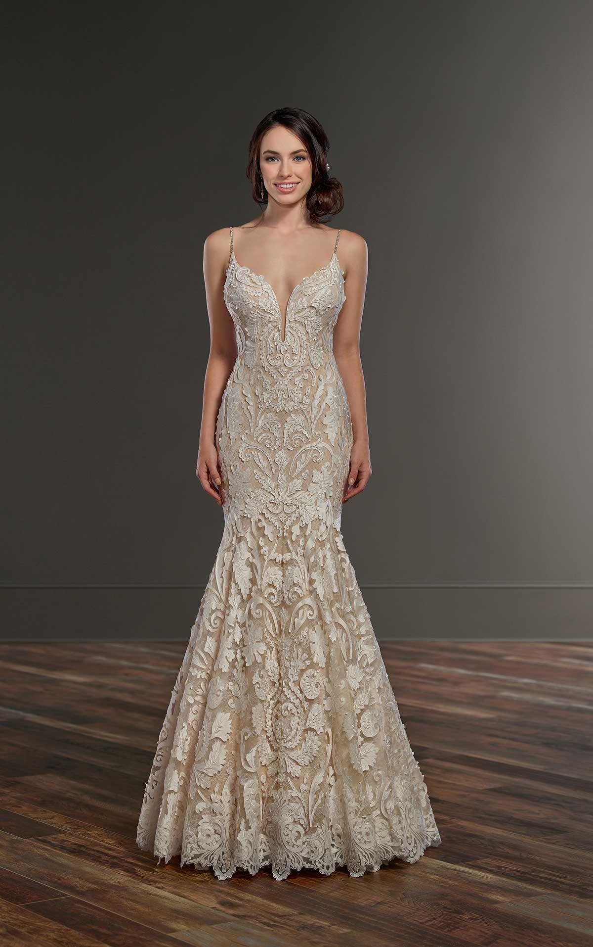 Martina Liana #858 - Designed in a unique paper-inspired lace ...