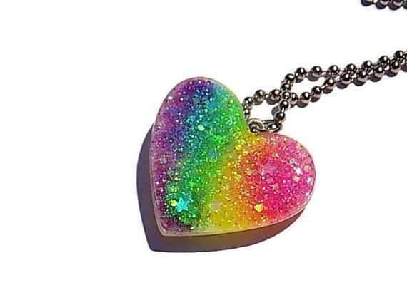 Pastel uv reactive heart necklace neon rainbow pendant holographic pastel uv reactive heart necklace neon rainbow pendant holographic resin jewellery cute glow necklace heart shaped mozeypictures Image collections