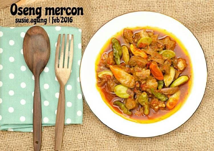 Resep Oseng Mercon Oleh Susi Agung Resep Resep Masakan Resep Masakan Indonesia Makanan Pedas