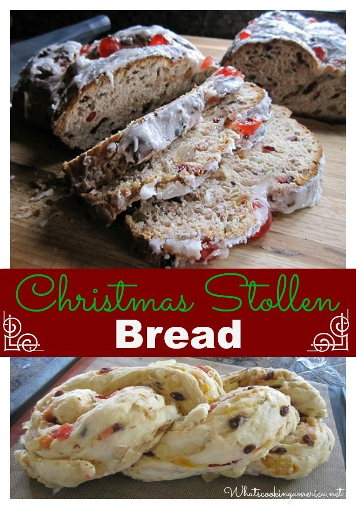 Christmas Dresden Stollen Recipe, Whats Cooking America Bread