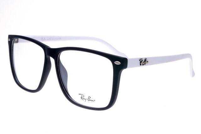 5fe2e04410c Ray Ban Clubmaster RB2428 Sunglasses White Black Frame Transparent Lens