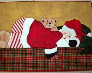 Papai Noel - Caixa em Patchwork embutido
