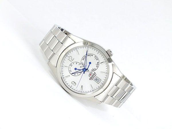 オリエント ORIENT 自動巻き マルチファンクション メンズ 腕時計 URL002ET ホワイト×シルバー メタルベルト-2