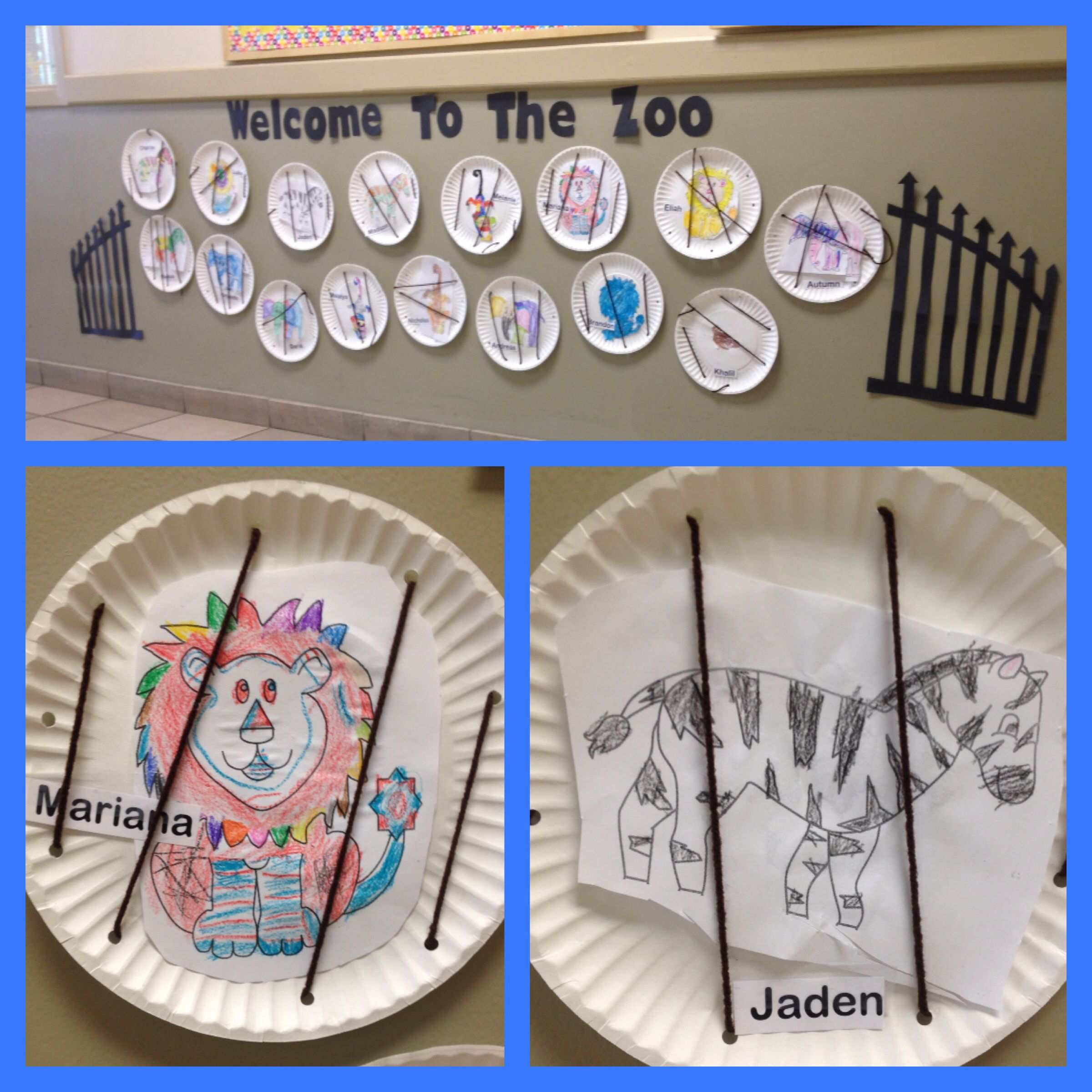 Zoo Animals In Cage (Fine Motor