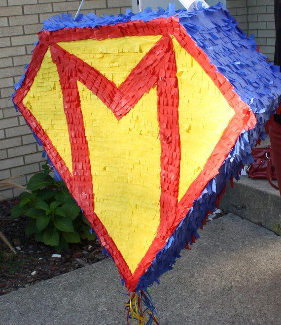 Superman Logo Pinata by PinataQueen on Etsy