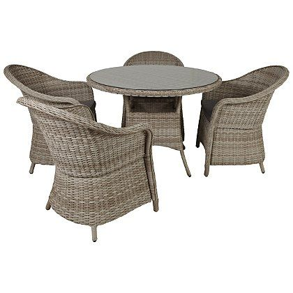 Shore 5 Piece Expressions Patio Set   Grey   Charcoal   Garden Furniture    George at. Shore 5 Piece Expressions Patio Set   Grey   Charcoal   Garden