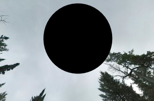 """Postcards From the Void - Juliet Eldred: """"black holes"""" found in Google Maps/Street View."""