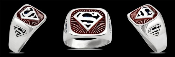 3603R Solid Sterling Silver Superman Ring