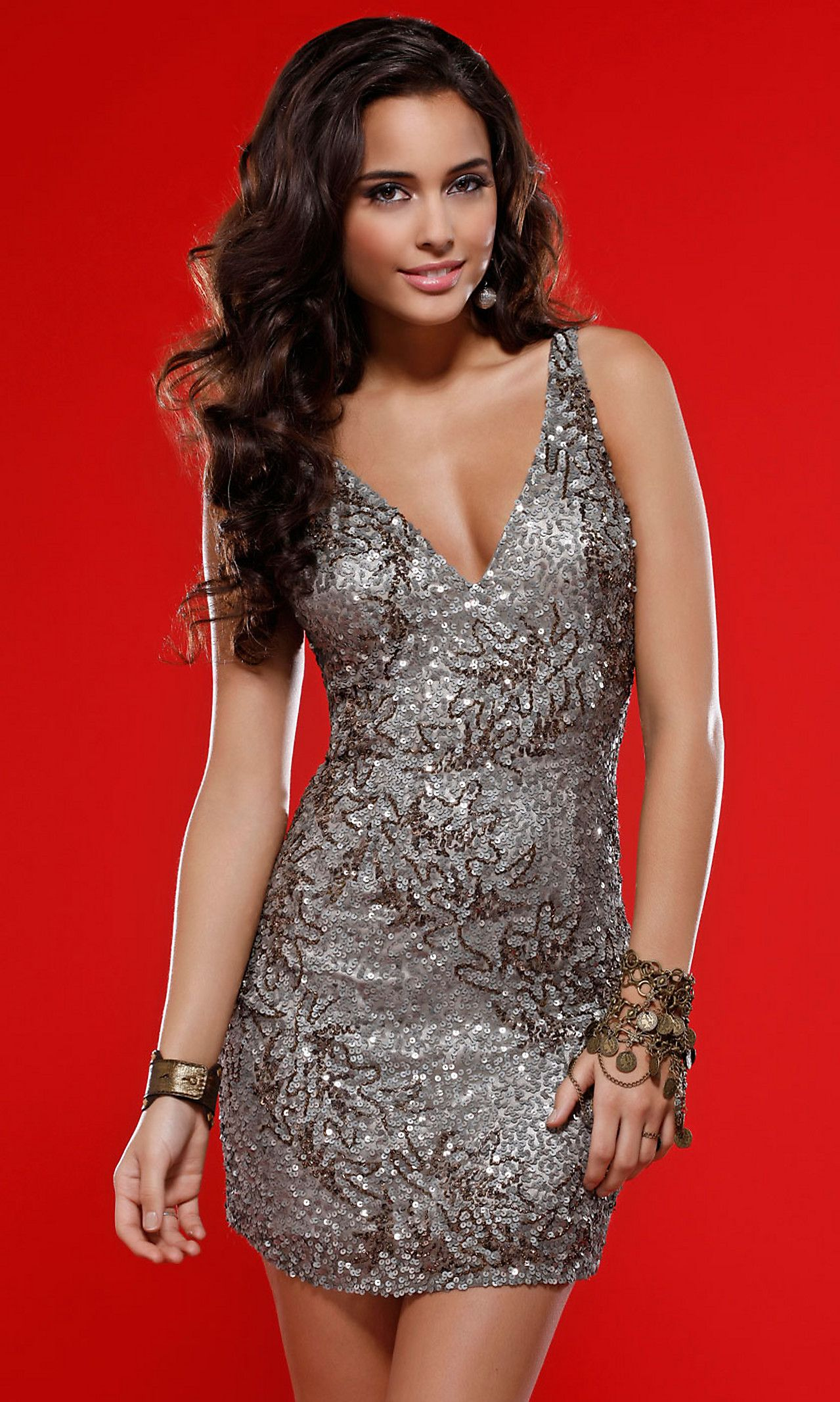 Sleeveless short silver dress by scala dresses pinterest