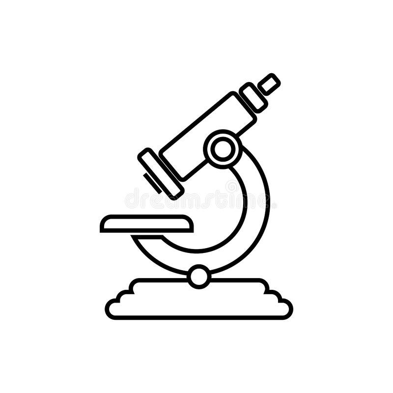 Microscope Black And White Vector Icon On White Background