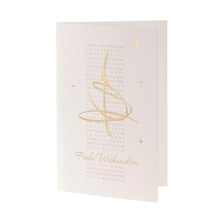klassische weihnachtskarten golden international edel. Black Bedroom Furniture Sets. Home Design Ideas