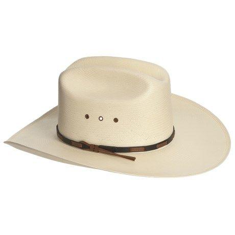 678780c50bd37 Stetson Cattleman Cowboy Hat - Shantung Straw (For Men and Women ...