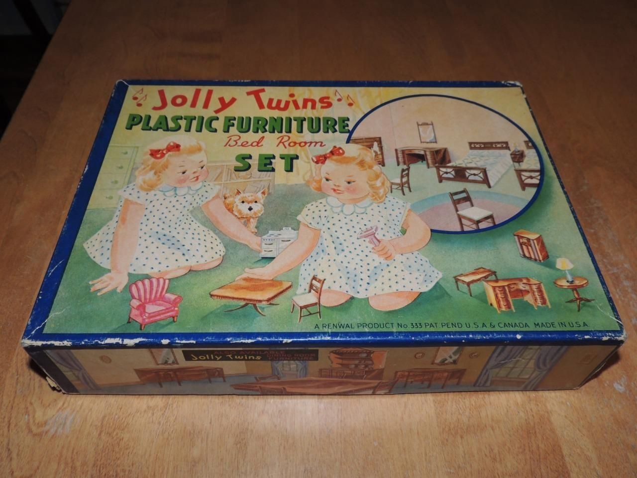 Vintage Jolly Twins Plastic Doll House Furniture