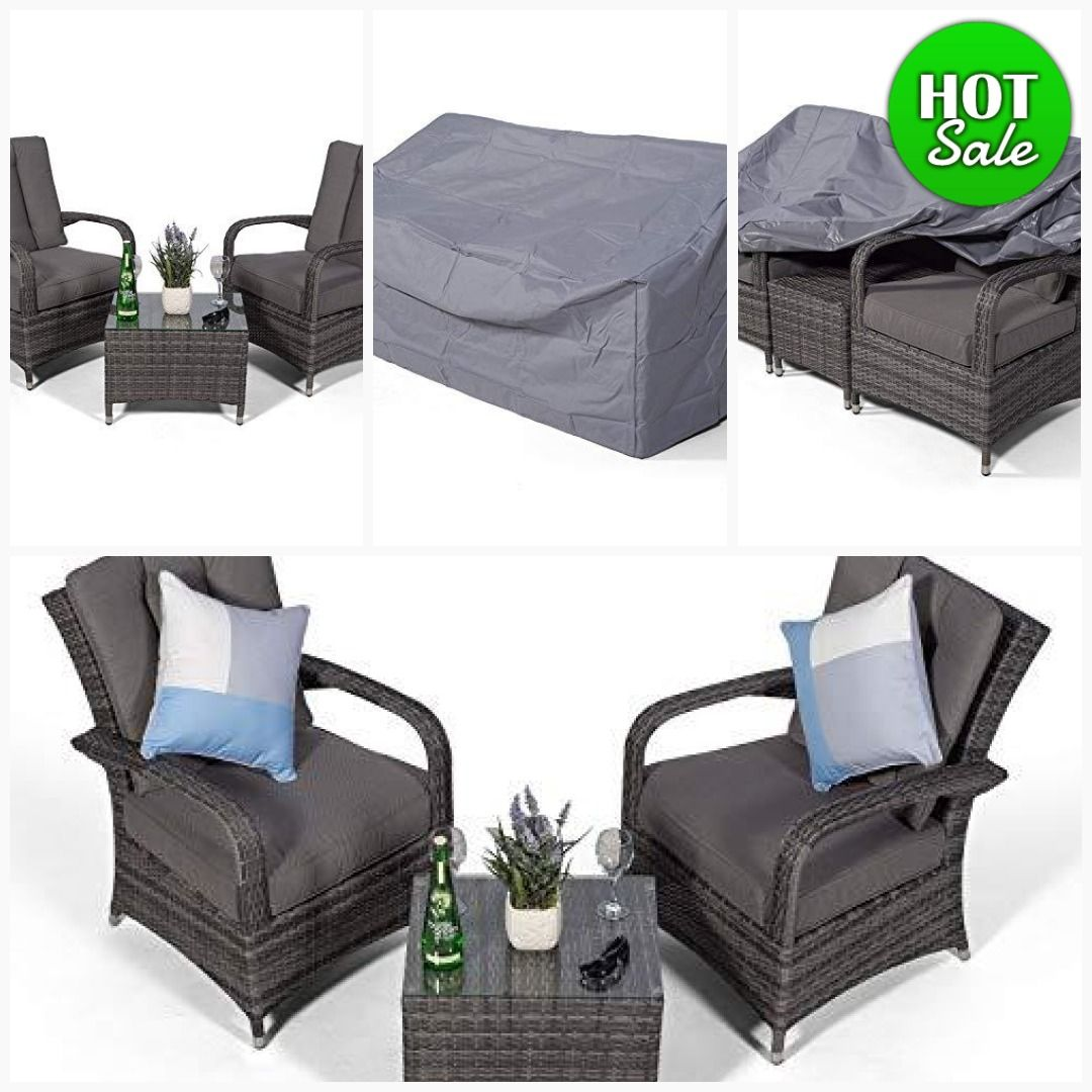 Ultra Stylish Arizona Rattan 2 Seat Arm Chair Set Small Glass Table Cushions Dust Cover Armchair Lounge Furniture Furniture Contemporary Garden Furniture