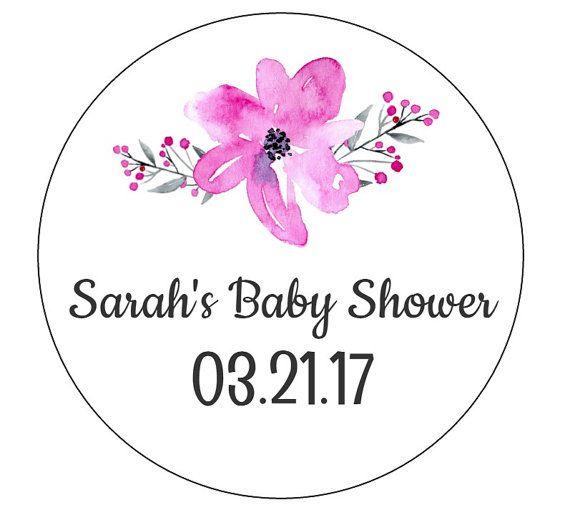 12 baby shower stickers flower stickers favor labels flower labels bridal shower labels peonies
